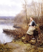 Daniel Ridgway Knight - paintings - A Lovely Thought