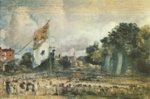John Constable - Bilder Gemälde - Das Waterloo Fest in East Bergholt