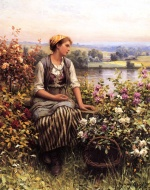 Daniel Ridgway Knight - paintings - Daydreaming