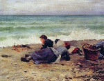 Daniel Ridgway Knight - paintings - Etretat Sur Mer