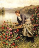 Daniel Ridgway Knight - paintings - Fishing