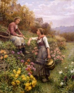 Daniel Ridgway Knight - paintings - Gossips