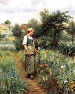 Daniel Ridgway Knight - paintings - In the Garden