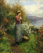Daniel Ridgway Knight - paintings - Julia on the Terrace