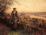 Daniel Ridgway Knight - paintings - Springtime