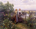 Daniel Ridgway Knight - paintings - Maria and Magdeleine on the Terrace