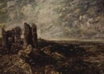John Constable - paintings - Hadleight Castle