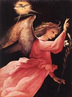 Lorenzo Lotto - Bilder Gemälde - Angel Annunciation