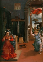 Lorenzo Lotto - Bilder Gemälde - Annunciation