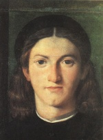 Lorenzo Lotto - Bilder Gemälde - Head of a Young Man