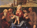 Lorenzo Lotto - Bilder Gemälde - Madonna and Child with Saints