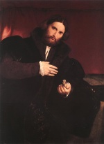 Lorenzo Lotto - Bilder Gemälde - Man with a Golden Paw