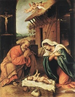 Lorenzo Lotto - Bilder Gemälde - Nativity