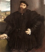 Lorenzo Lotto - Bilder Gemälde - Portrait of a Gentlemen
