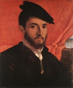 Lorenzo Lotto - Bilder Gemälde - Portrait of a Young Man