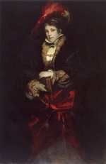 Bild:Portrait of a Lady with red Plumed Hat
