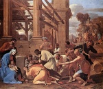 Nicolas Poussin - Bilder Gemälde - Adoration of the Magi