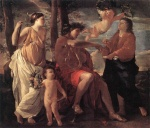 Nicolas Poussin - Bilder Gemälde - Inspiration of the Poet
