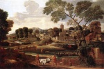 Nicolas Poussin - Bilder Gemälde - Landscape with the Funeral of Phocion
