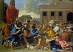 Nicolas Poussin - Bilder Gemälde - Rape of the Sabine Women