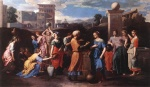 Nicolas Poussin - Bilder Gemälde - Rebecca at the Well