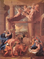 Nicolas Poussin - Bilder Gemälde - The Adoration of the Shepherds