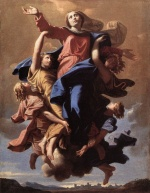 Nicolas Poussin - Bilder Gemälde - The Assumption of the Virgin