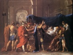 Nicolas Poussin - Bilder Gemälde - The Death of Germanicus