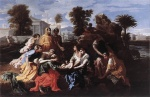 Nicolas Poussin  - Bilder Gemälde - The Finding of Moses