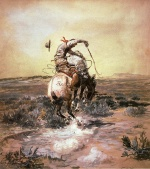 Charles Marion Russell - paintings - A Slick Rider