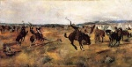 Charles Marion Russell - paintings - Breaking Camp