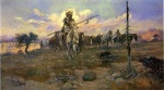 Charles Marion Russell - Bilder Gemälde - Bringing Home the Spoils