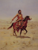 Charles Marion Russell - paintings - Indian Rider