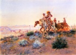 Charles Marion Russell - paintings - Mexican Bufallo Hunters