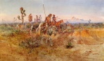 Charles Marion Russell - paintings - Navajo Trackers
