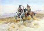 Charles Marion Russell - Bilder Gemälde - On the Prowl