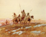 Charles Marion Russell - paintings - Piegan Hunting Party