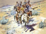 Charles Marion Russell - Bilder Gemälde - Return of the Warriors