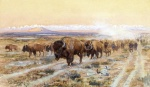 Charles Marion Russell - paintings - The Bison Trail