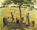 Camille  Pissarro - paintings - Apfelernte in Eragny