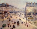 Camille  Pissarro - paintings - Avenue de l Opera