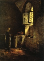 Theodore Clement Steele - Bilder Gemälde - A Corner in the Old Kitchen of the Mittenheim Cloister