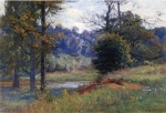Theodore Clement Steele - Bilder Gemälde - Along the Creek (Zionsville)