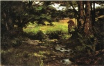 Theodore Clement Steele - Bilder Gemälde - Brook in Woods