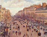 Camille  Pissarro - paintings - Boulevard Montmartre on a Sunny Afternoon