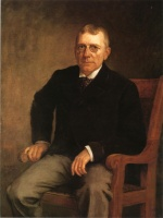 Theodore Clement Steele - Bilder Gemälde - Portrait of James Whitcomb Riley