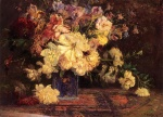 Theodore Clement Steele  - paintings - Still Life with Peonies