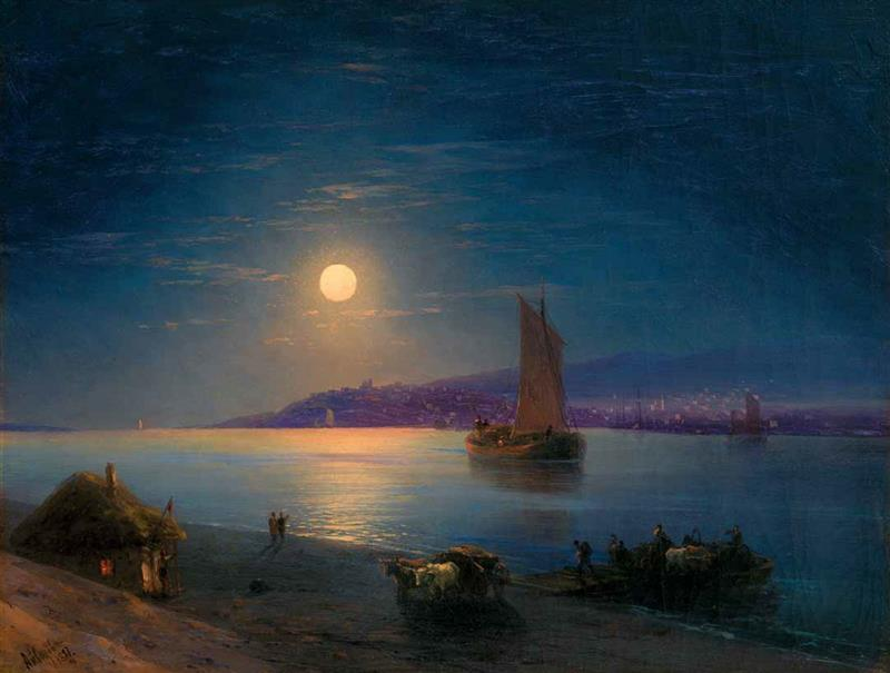 A Moonlit Night on the Dnieper