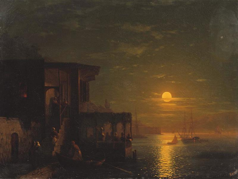 A Moonlit Night on the Sea