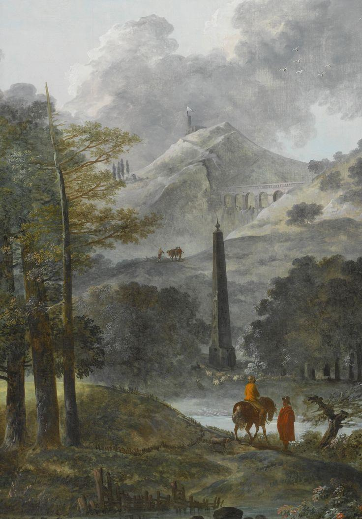 A Mountainous Landscape with an Obelisk